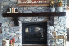 Two Sided Custom Rock Fireplace