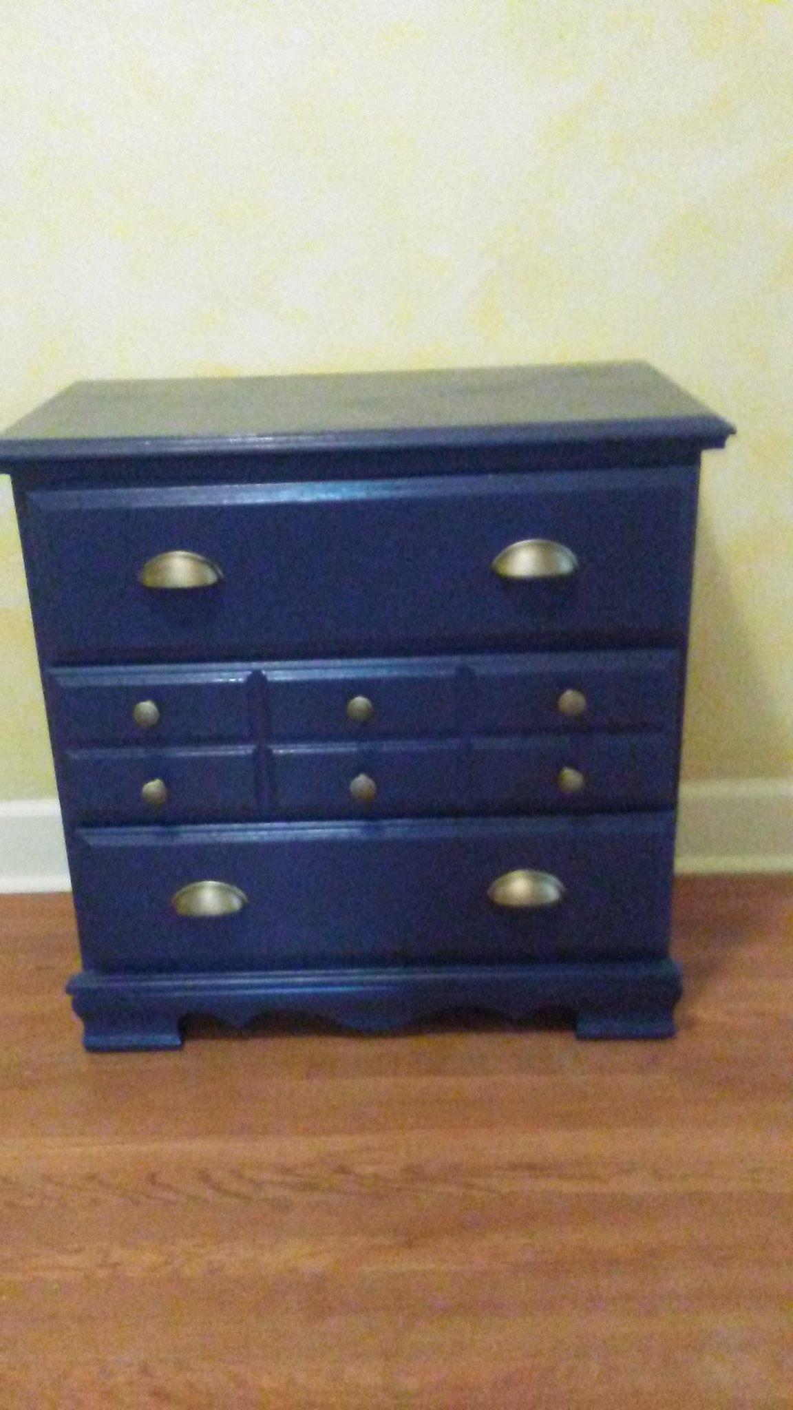 Navy and Gold Dresser
