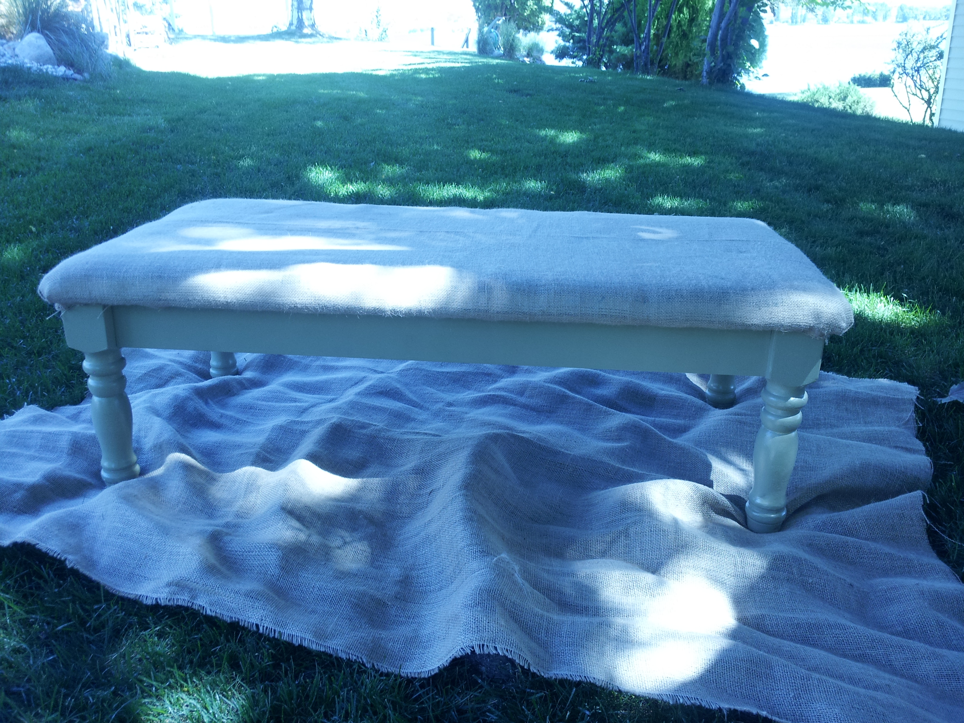 Coffee Table turned into Bench