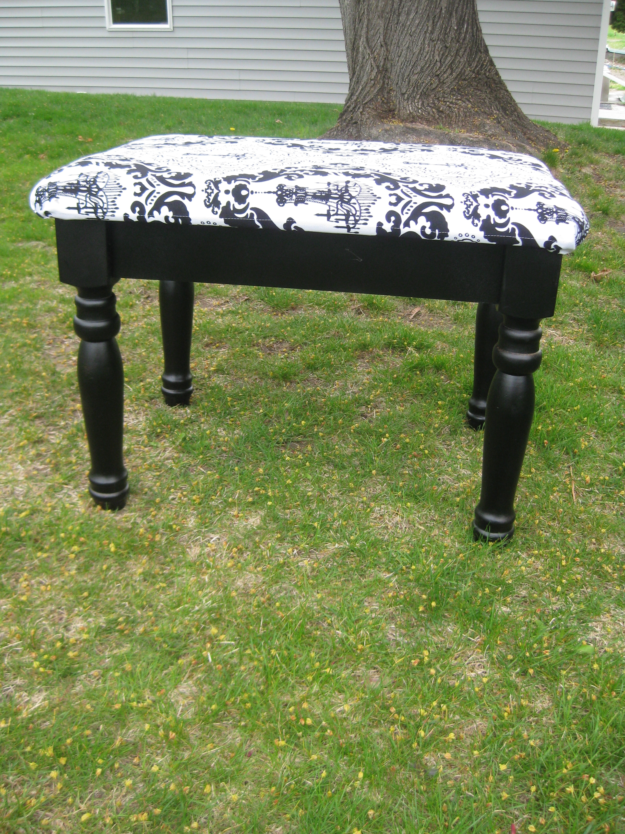 End table turned into Stool