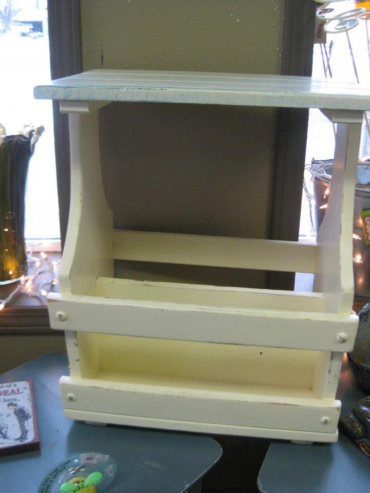 magazine rack end table