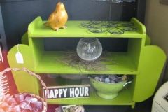 Funky lime green table